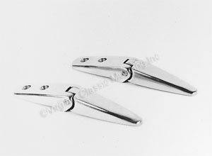 69-70 FASTBACK REAR WINDOW LOUVER HINGES-PAIR