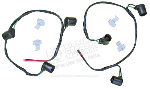 67 SHELBY TAIL LIGHT WIRING EXTENSION PLUG SET-BOTH SIDES