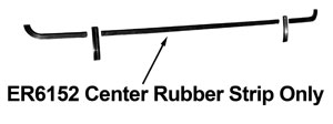 73 REAR BUMPER RUBBER CENTER TRIM STRIP