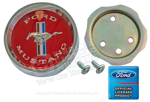 65-66 RED CENTER FOR STYLED STEEL WHEEL