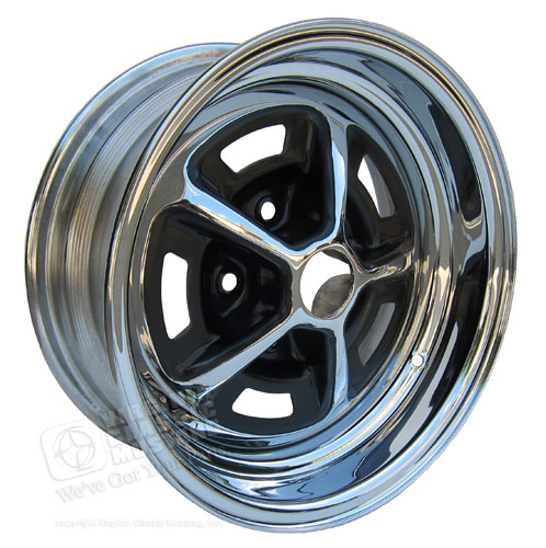 66 GT350 SHELBY CHROME MAGNUM 500 WHEEL 14 X 6