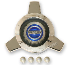 65-66 BLUE CENTER SPINNER FOR WIRE HUBCAP