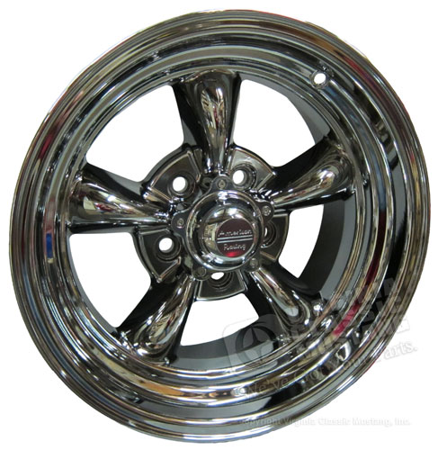 15 X 7 POLISHED AMERICAN TORQ-THRUST II WHEEL 5 LUG WITH NEW DURABLE PVD COATING