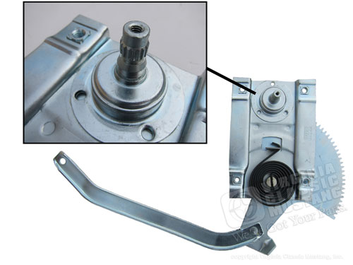 65-66 LH SCREW-ON STYLE WINDOW REGULATOR