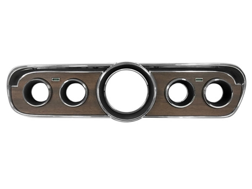 65-66 WOODGRAIN INSTRUMENT BEZEL WITH METAL WOODGRAIN INSERT