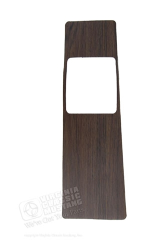 69 Wood Insert with Seat Belt Holder Openings - For Console with seat belts