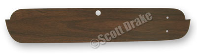 65-66 METAL- WOODGRAIN INSERT FOR GLOVEBOX