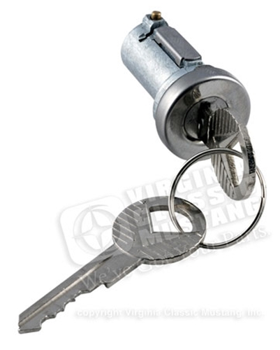 65-66 Mustang Trunk Lock Cylinder with Generic Keys
