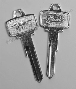 65-66 PONY IGNITION KEY BLANK