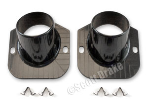 65-66 DEFROSTER DUCTS ONLY-PAIR (WITH CLIPS)