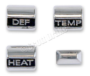 67 HEATER CONTROL KNOB SET (WITHOUT AIR CONDITIONING)