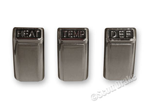 68 HEATER CONTROL KNOB SET (WITHOUT FACTORY AIR CONDITIONING)