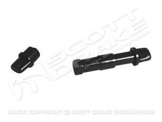 BLACK BUTTONS FOR AUTO SHIFTER T-HANDLE-PAIR