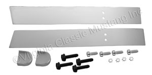67-68 FASTBACK VENT CHROME SLIDES WITH KNOBS- PAIR