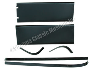 67-68 FASTBACK INSIDE REAR ROOF/WINDOW MOLDING SET - 6 PIECES