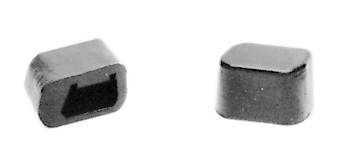 67-70 FASTBACK REAR SEAT LATCH BUMPERS-PAIR