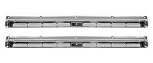 65-68 CONVERTIBLE POLISHED STAINLESS STEEL STEP PLATES-PAIR