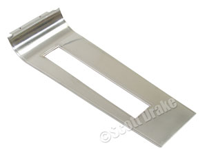 67 TOP CONSOLE SHIFT PLATE FOR AUTOMATIC TRANSMISSION-CHROME AND BRUSHED FINISH