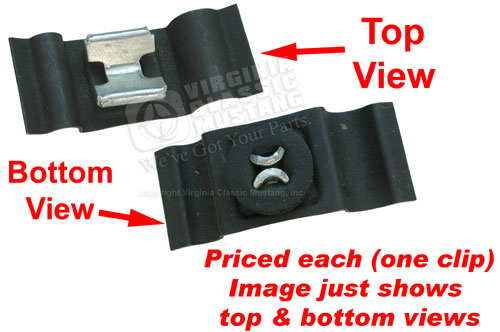 65-66 CLIP FOR SPEEDOMETER CABLE BELOW FIREWALL - 4 SPD