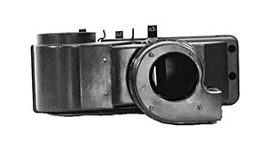 65-66 HEATER BOX ASSEMBLY WITH HOLE FOR RESISTOR