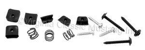 65-67 WOOD WHEEL INSULATORS WITH SCREWS AND SPRINGS