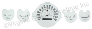65-66 WITH GAUGES WHITE FACE GAUGE PANEL KIT