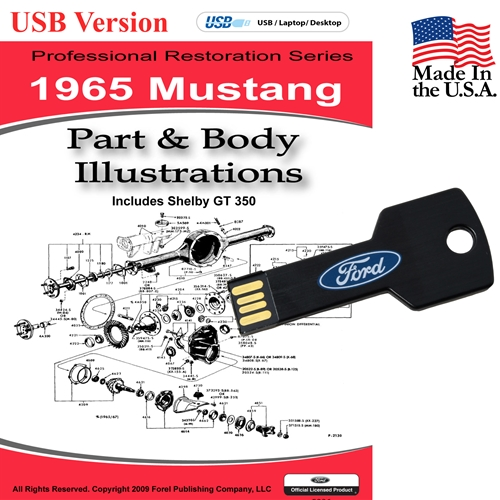 1965 MUSTANG PARTS AND BODY ILLUSTRATIONS ON CD