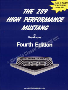 289 HIGH PERFORMANCE MUSTANG BOOK