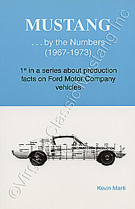 MUSTANG...BY THE NUMBERS BOOK