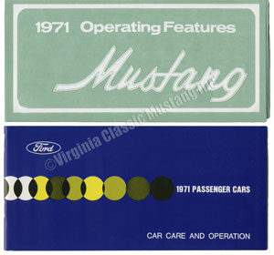 71 OWNERS MANUAL WITH OPERATING FEATURES SLEEVE