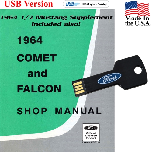 1964 1/2 SHOP MANUAL ON CD COVERS MUSTANG COMET AND FALCON