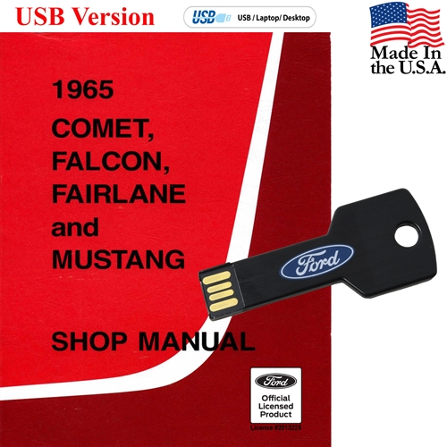 1965 SHOP MANUAL ON CD COVERS MUSTANG COMET FALCON FAIRLANE