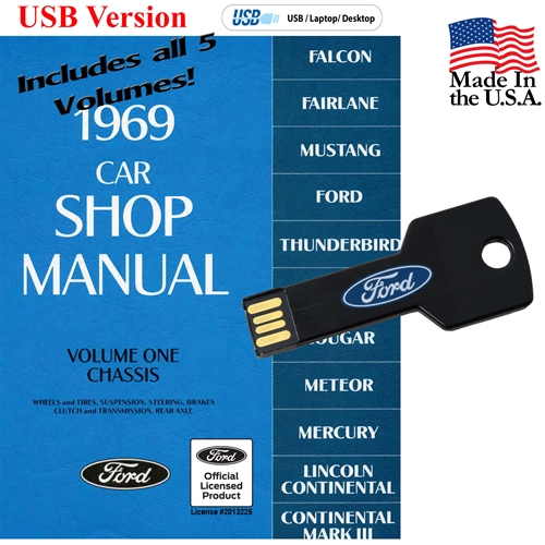 1969 FORD SHOP MANUAL ON CD