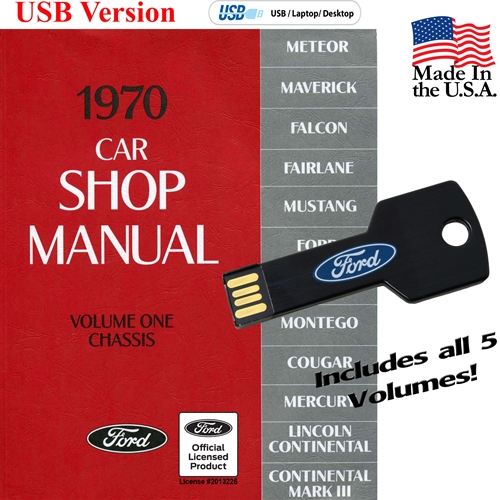 1970 FORD SHOP MANUAL ON CD