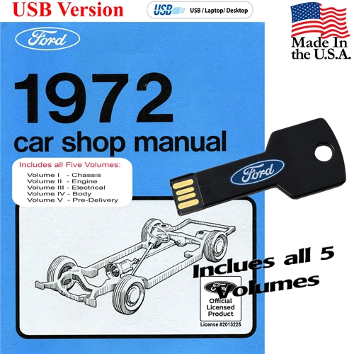 1972 FORD SHOP MANUAL ON CD
