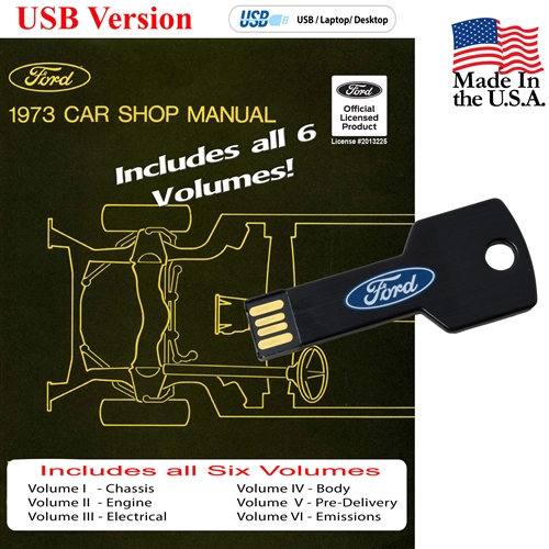 1973 FORD SHOP MANUAL ON CD