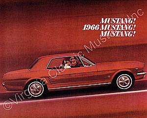 66 MUSTANG COLOR SALES BROCHURE