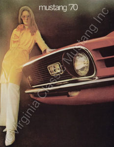 70 MUSTANG COLOR SALES BROCHURE