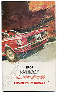 67 SHELBY OWNERS MANUAL