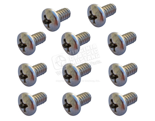 65-68 Mustang Convertible Boot Strip Screws - set of 11