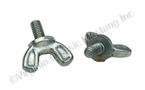 65-67 V8 AIR CLEANER SNOUT WING SCREWS (2) *REPLACEMENT STYLE*