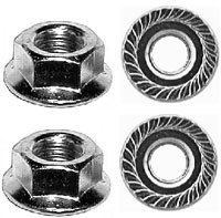 REPLACEMENT TYPE PARKING-BACK-UP-TAIL LIGHT MOUNTING NUTS (4)