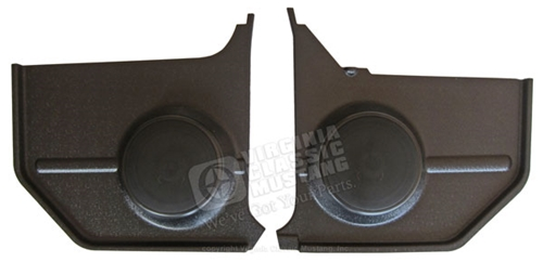 65-66 Mustang Convertible Kick Panels - Black - with Standard Speakers - Pair