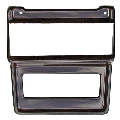 69-70 SONY IN-DASH CD/AM/FM STEREO MOUNTED IN WOOD RADIO/HEATER BEZEL