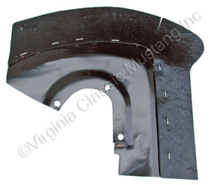 65-66 RH FRONT/FRONT FENDER SPLASH SHIELD WITH RUBBER