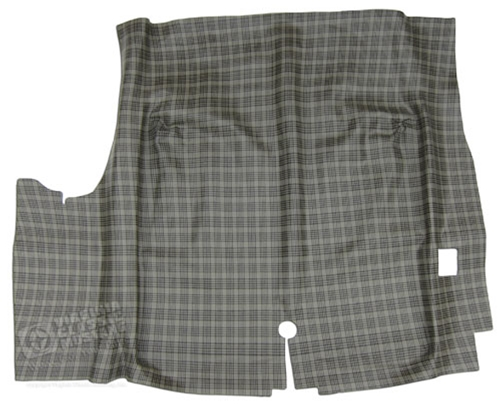 65-68 Mustang Coupe and Convertible Molded Rubber Trunk Mat - Plaid Design