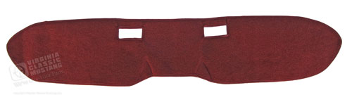 65-66 CUSTOM CARPETED DASH COVER RED
