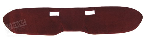 65-66 CUSTOM CARPETED DASH COVER DARK RED