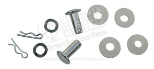 65-73 CONVERTIBLE TOP CYLINDER TO FRAME ATTACHING KIT (BOTH SIDES)-WITH BUSHINGS