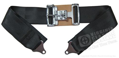 3 Inch Race Style Lap Seat Belt Assembly Black One Seat